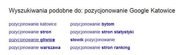 pozycjonowanie google katowice podpowiedzi